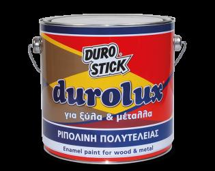 ΡΙΠΟΛΙΝΗ ΔΙΑΛΥΤΟΥ ΓΙΑ ΞΥΛΑ - ΜΕΤΑΛΛΑ ΚΟΚΚΙΝΟ (60) DUROSTICK DUROLUX GLOSS 2,5L